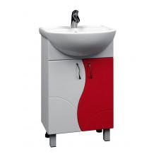 Тумба с раковиной Alessandro 4- 550 красный