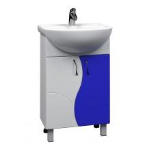 Тумба с раковиной Alessandro 4- 550 синий