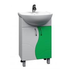 Тумба с раковиной Alessandro 4- 550 зеленый